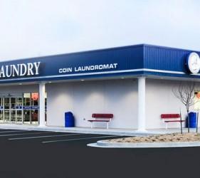 Liberty Laundry Delaware store laundromat exterior storefront image in Tulsa near Jenks, Oklahoma