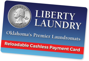 Liberty Laundry reloadable cashless payment card